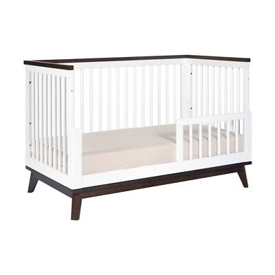 babyletto Scoot 3-in-1 Convertible Crib with Toddler Bed Conversion Kit in White