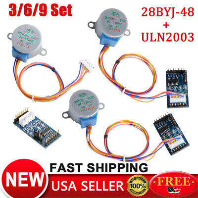 369x Dc5v Stepper Motor 28byj-48 Uln2003 Driver Test Module Board For Arduino