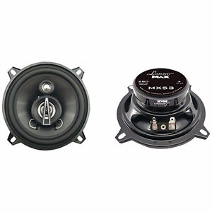 Lanzar Mx53 5.25-Inch 280-Watts/Max 3 Way Coaxial Speakers