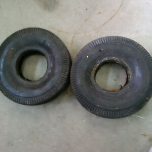 Two dolly tires