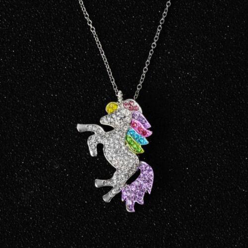 Jewellery - Unicorn Pendant Necklace Chain Flying Horse Kids Girls Jewellery Party XMAS Gift