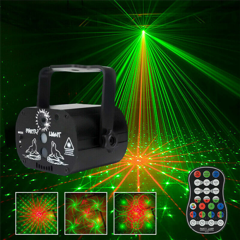 60 Patterns Projector LED RGB Laser Stage Light DJ Disco KTV Home Lighting Party