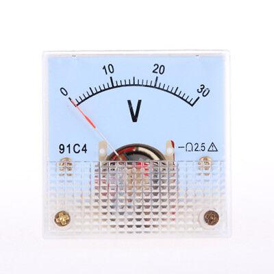 1pc 91c4 Analog Volt Voltage Panel Meter Voltmeter 030v Dc New