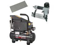 Sealey Air Compressor SAC0610E 6ltr Direct Drive Sa792 Nailer Stapler 5000 Nail