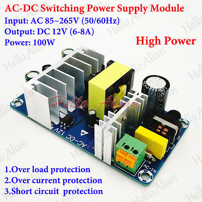 Ac-dc Converter Ac 110v 220v 230v To Dc 12v 6-8a Isolated Switching Transformer