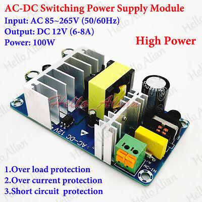 Ac-dc Converter Ac 110v 220v 230v To Dc 12v 6-8a Isolated Switching Transformer