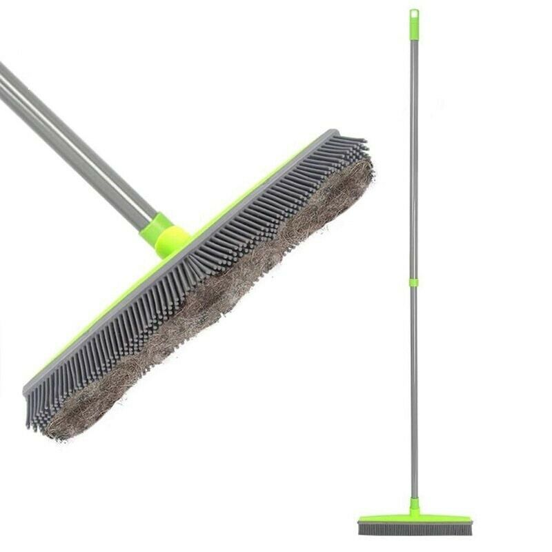 Long Push Rubber Broom Sweeper Squeegee Scratch Cat Dog Hair