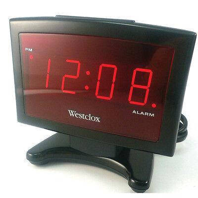 Westclox  0.9 in. L Black  Digital  Alarm Clock  Batteries Required