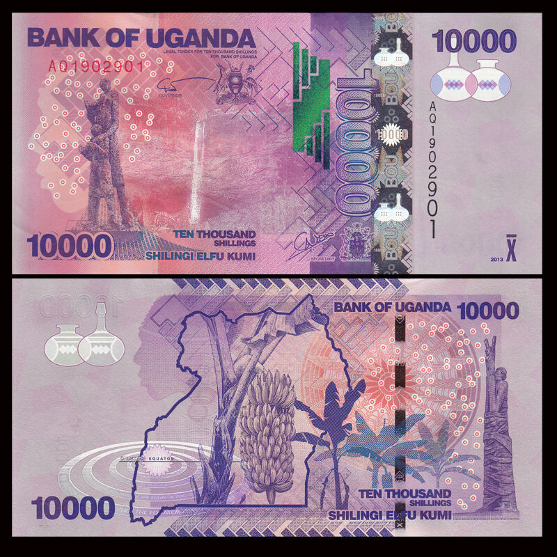 UGANDA 10000 10,000 Shillings 2013 P-52 UNC Uncirculated