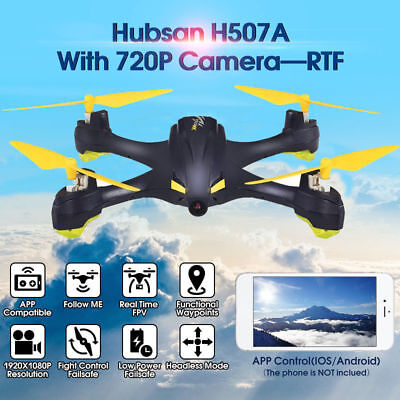 Hubsan H507A X4 Inimitable Pro App Driven RC Quadcopter 720P Cam Drone Wifi  FPV GPS