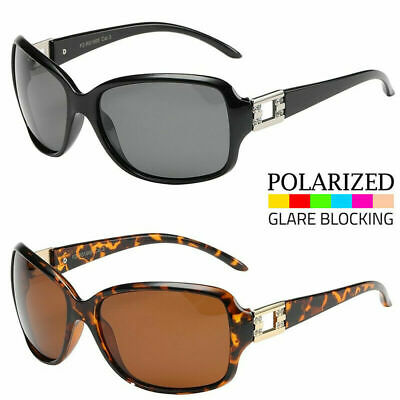New Women's POLARIZED Sunglasses Rhinestone Designer Shades Fashion Wrap (Designer Polarized Sunglasses)
