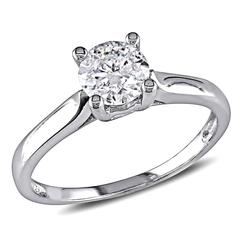 Amour 3/4 Ct Tw Diamond Solitaire Ring In 14k White Gold