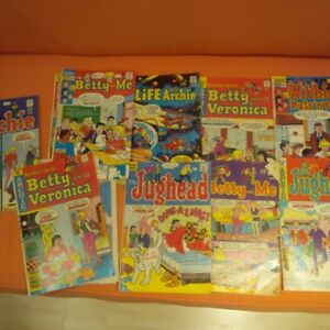 11 old archie comics from 70's