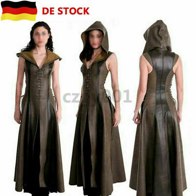 Sexy Leder Mittelalter Ranger Kleid Erwachsenen Cosplay Halloween Fancy (Halloween Kostüm)