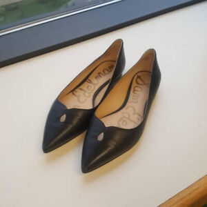 5595aaa466b9 Sam Edelman  Ruby  Black Pointed Toe Flat Shoes ...