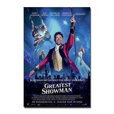 The Greatest Showman Zac Efron Hugh Jackman Michelle Williams Silk Poster 24X36
