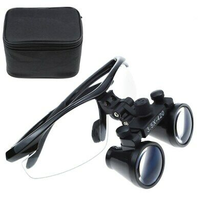 Dental Medical 3.5x Binocular Loupes Magnifier Optical Glass Black For Dentist