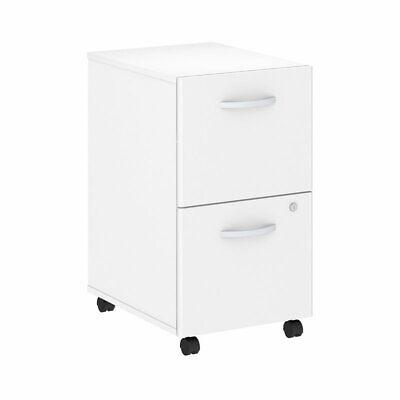 Bush Business Studio C 2 Drawer Mobile File Cabinet In White