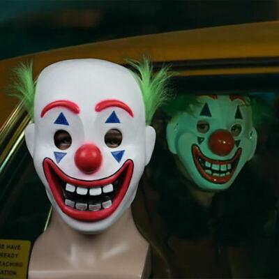 Half Clown Mask (2019 Cosplay DC Movie Joker Arthur Fleck Mask Clown Masquerade Halloween)