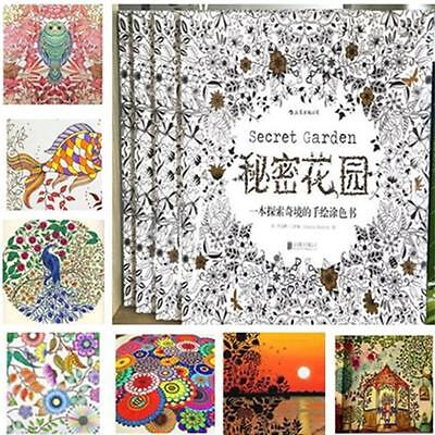 Newest Children Adult Secret Garden An Inky Treasure Hunt Coloring Painting Book on Rummage