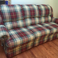 Reclining couch - Christmas Colors