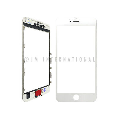 "iPhone 6S 4.7"" Outer Lens Touch Screen Lens Glass + Frame White Replacement Part"