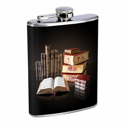 Book Lover Em1 Flask 8oz Stainless Steel Hip Drinking Whiskey](Bible Flask)