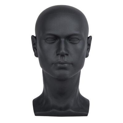 1pc Male Mannequin Manikin Head Display Wig Hat Glasses Mould Show Model Black