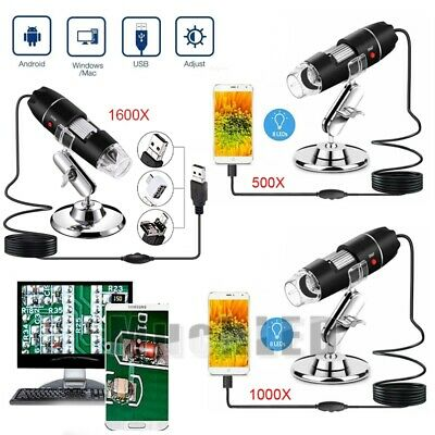 10001600x Digital 8 Led Usb Zoom Microscope Magnifier Endoscope Camera Stand