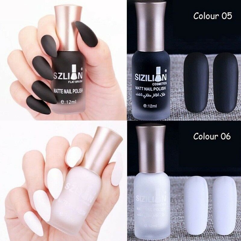 Details about 12ml Matte Dull Nail Polish Fast Dry Long Lasting Nail Art  Matte Nail Polish Gel