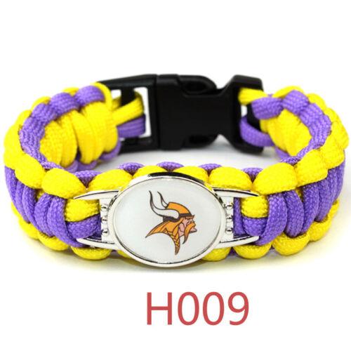Football NFL US Team Umbrella Rope Wristband  Bracelets Brac