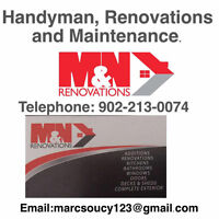 Handyman, Renovations, and Maintenance