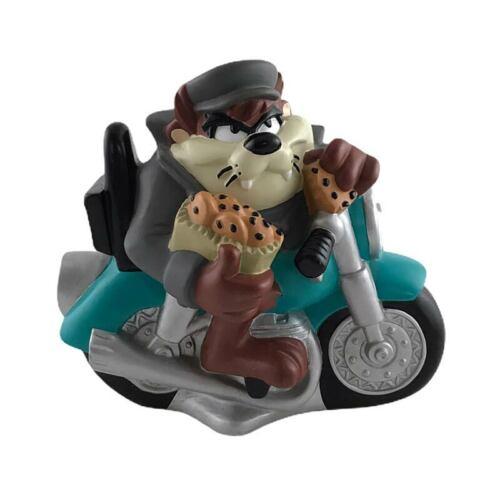 Taz Tasmanian Devil Motorcycle Bank with Cookies Coin Piggy Warner Bros 1998