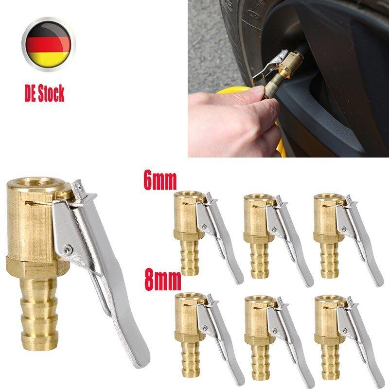 Druckluftklemmnippel Ventilstecker für Reifenfüllgerät 10 Stück 8 mm Stahl