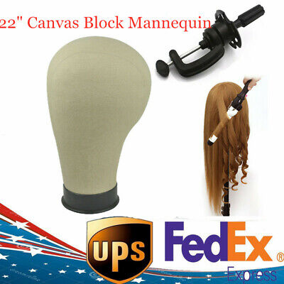 Canvas Block Head For Wig Making Water Repellant Hair Mannequin Model Head