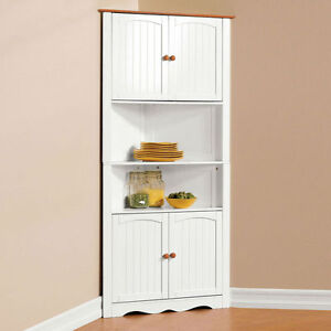 Wooden-Corner-Cabinet-Corner-Unit-Corner-Shelf-Corner-Cupboard-HC-003A