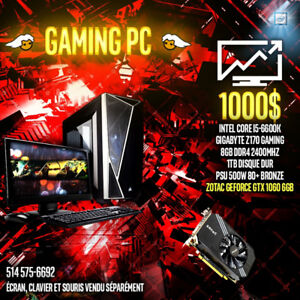 PC GAMER - i5-6600K avec GTX 1060 6GB + Windows 10