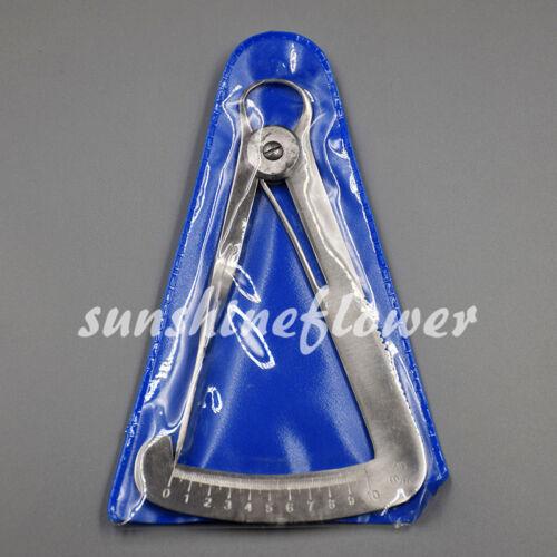 Steel Dental Lab Wax Metal Crown Gauge Caliper Ruler Dental Surgical Instruments