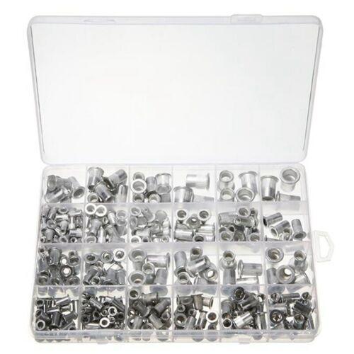 300 Aluminum Rivet Nut Rivnut Nutsert Kit 150pcs Metric + 150pcs SAE USA Seller