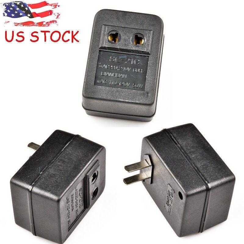 Universal Voltage Converter Adaptor 50W Step Up 110V-220V Transformer US Plug Electrical Supplies