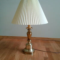 2 Matching Brass Table Lamps