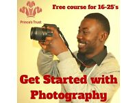 FREE photography course for 16-25 year olds. Gain experience & qualifications.