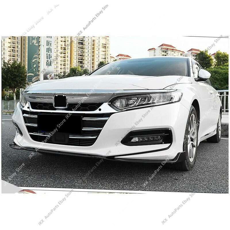 7pcs ABS Chrome Front Bumper Grill j Grille Cover Trim For Honda Accord 2018-20