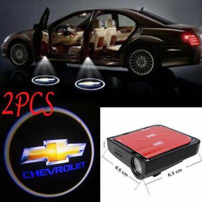 2pcs LED Car Door Logo Courtesy Projector Laser Ghost Shadow Light For CHEVROLET
