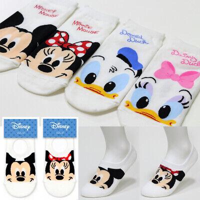 Disney Character Socks Big Kids Mickey Minnie Donald Daisy Women Socks 6 Pairs