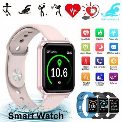 Women Men Bluetooth Smart Watch Heart Rate Fitness Wristband For Samsung &iphone