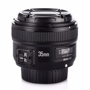 Yongnuo 35mm F2 AF/MF Wide-Angle Auto Focus Lens for Nikon