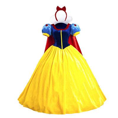 Damen Schneewittchen Halloween Kostüm Erwachsene Märchen Karneval Kleid Cosplay