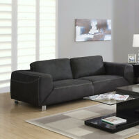 Jillian Modern Microsuede Sofa, Loveseat or Chair