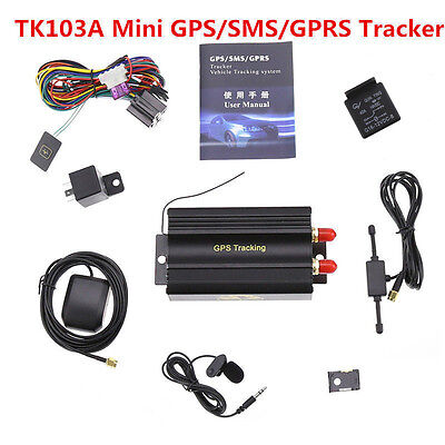 Hot GPRS GSM SMS Vehicle Car GPS Tracker TK103A Tracking Device Alarm System